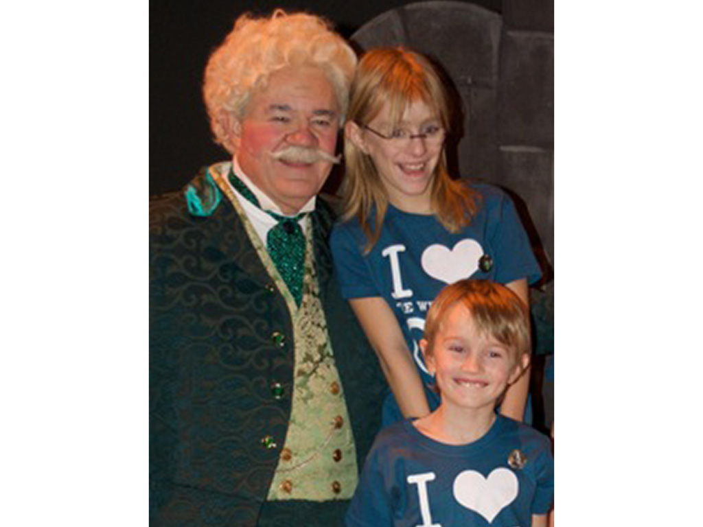 Jon March and grandkids Down to Earth