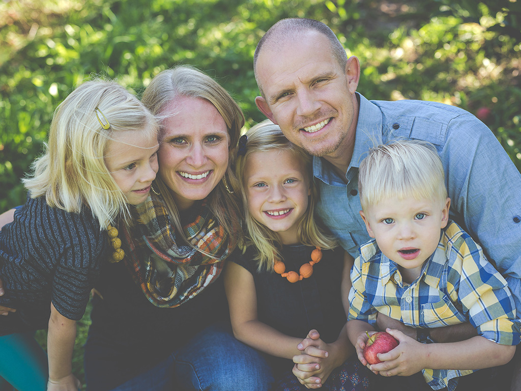 Andrew Oostema and family Down to Earth
