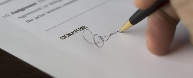 Signing Contracts